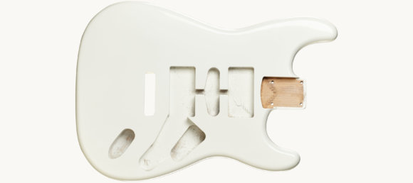 Дека для електрогітари Woodstock Strat Ash Body WH
